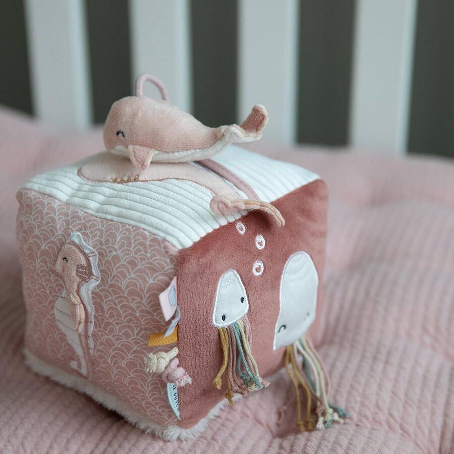 Little Dutch Soft activity cube - Ocean pink LD4815