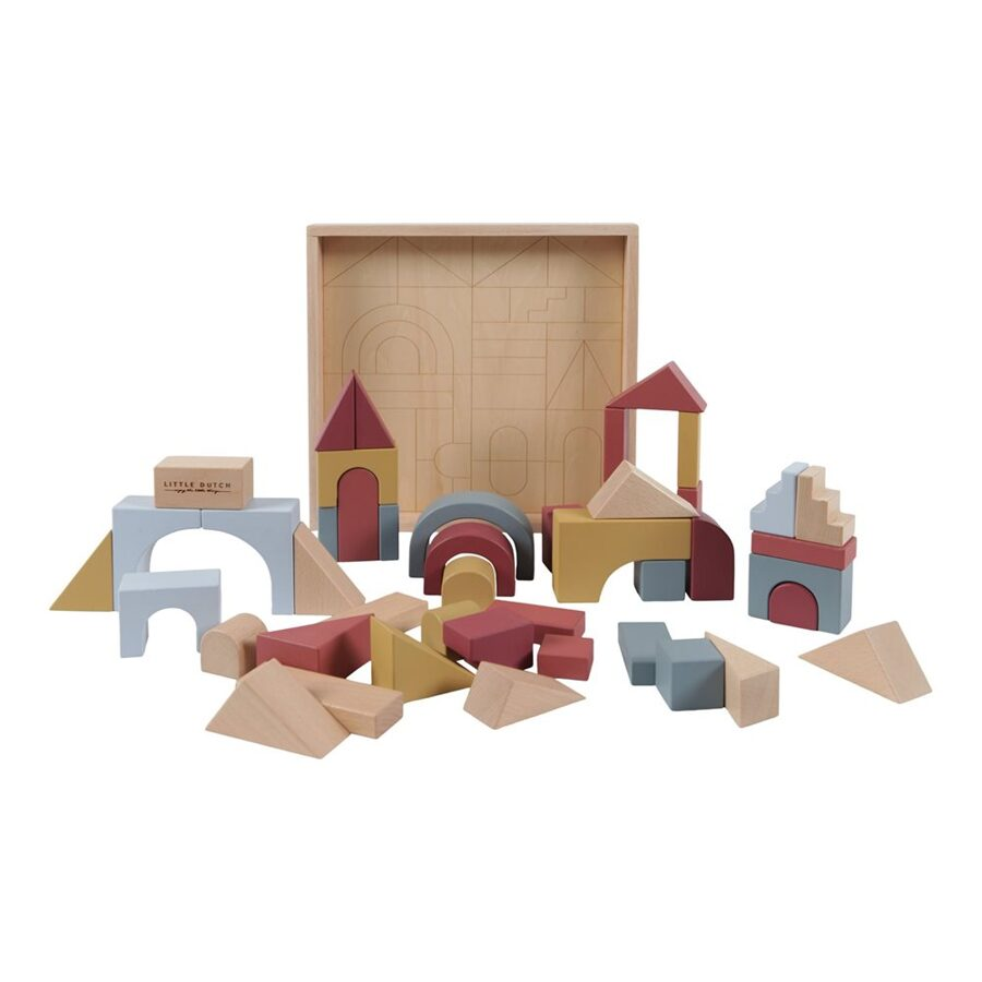 Little Dutch Wooden building blocks set of 47 pcs. FSC LD4704