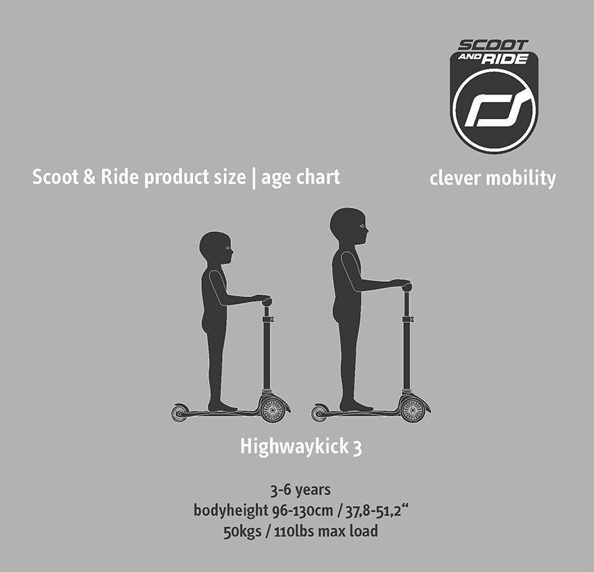 Scoot and Ride Highwaykick 3 LED Kiwi