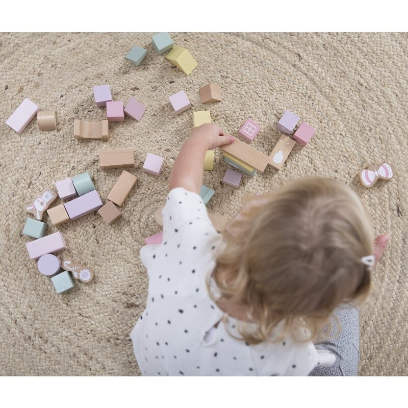 Little Dutch Blocks in barrel Adventure pink LD4412