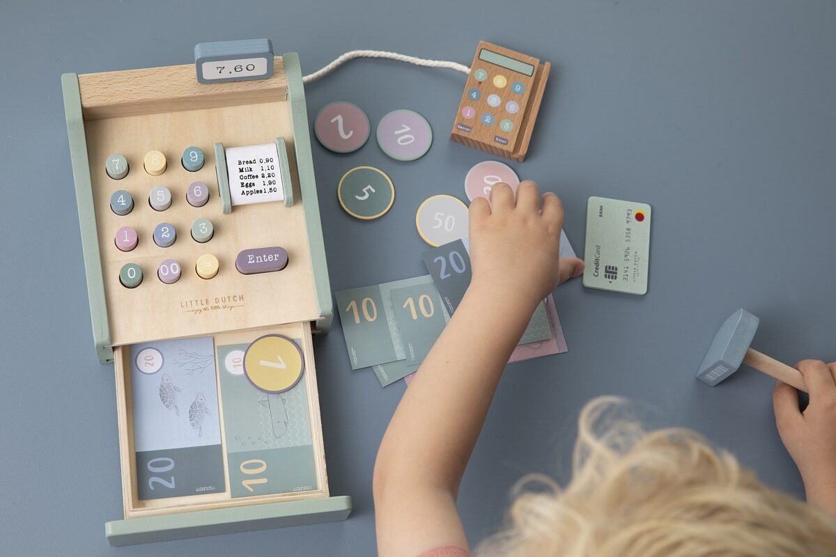 Little Dutch Toy cash register with scanner LD4469
