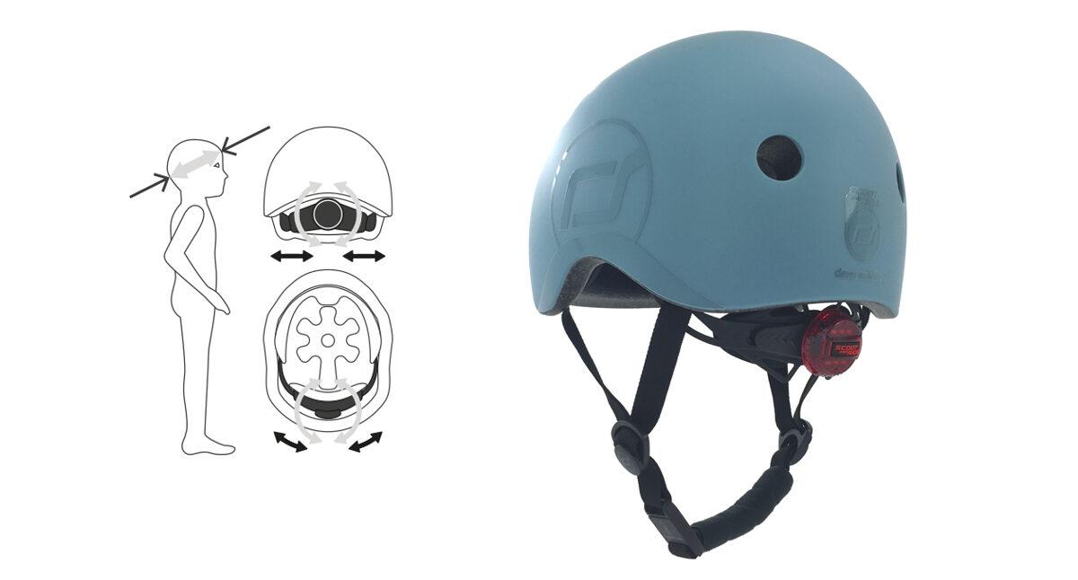 Scoot and Ride Helmet Ash XXS-S