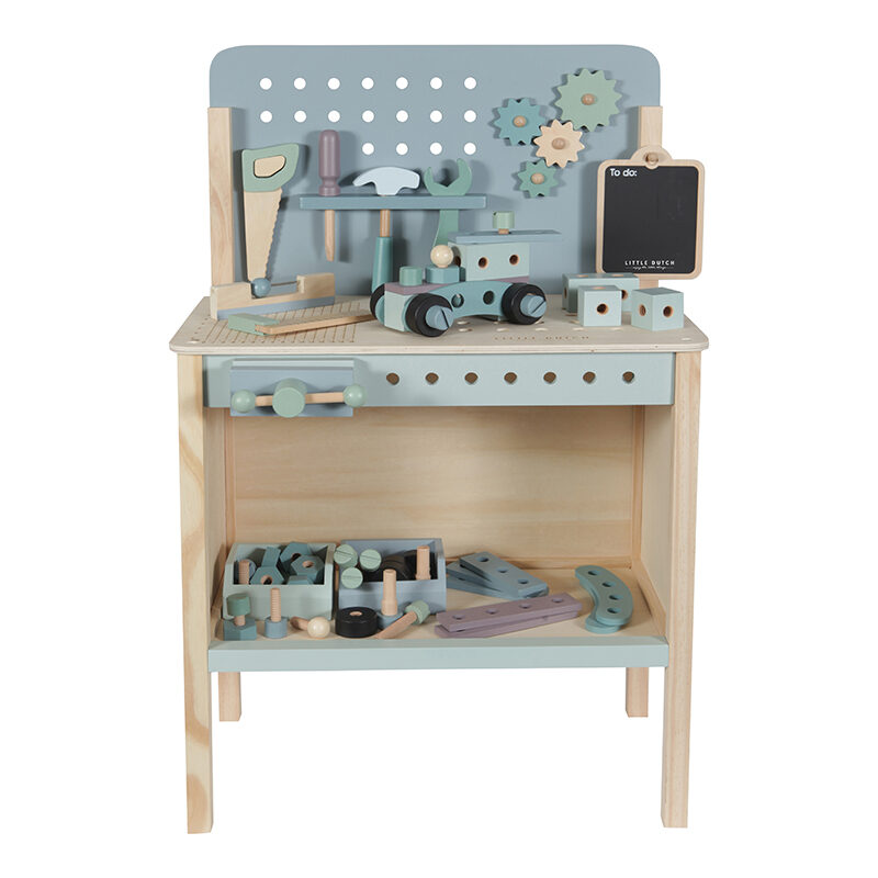 Little Dutch Wooden toy workbench with toolbelt LD4448
