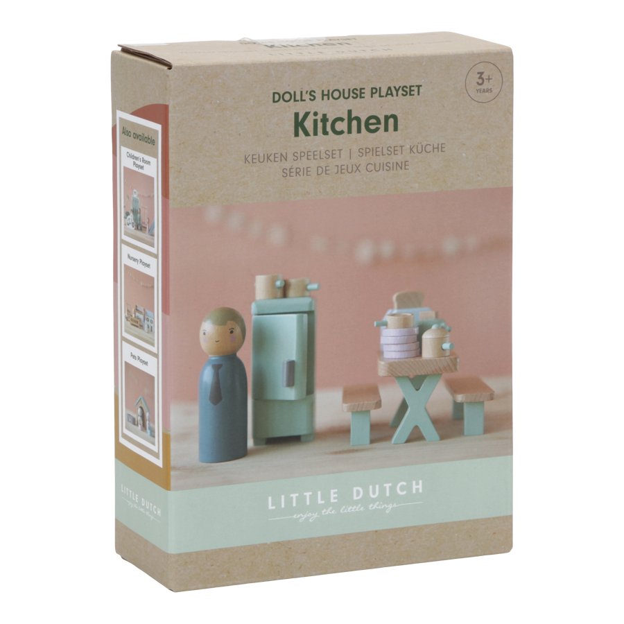 Little Dutch Doll's house playset Kitchen – 19 pcs. LD4476