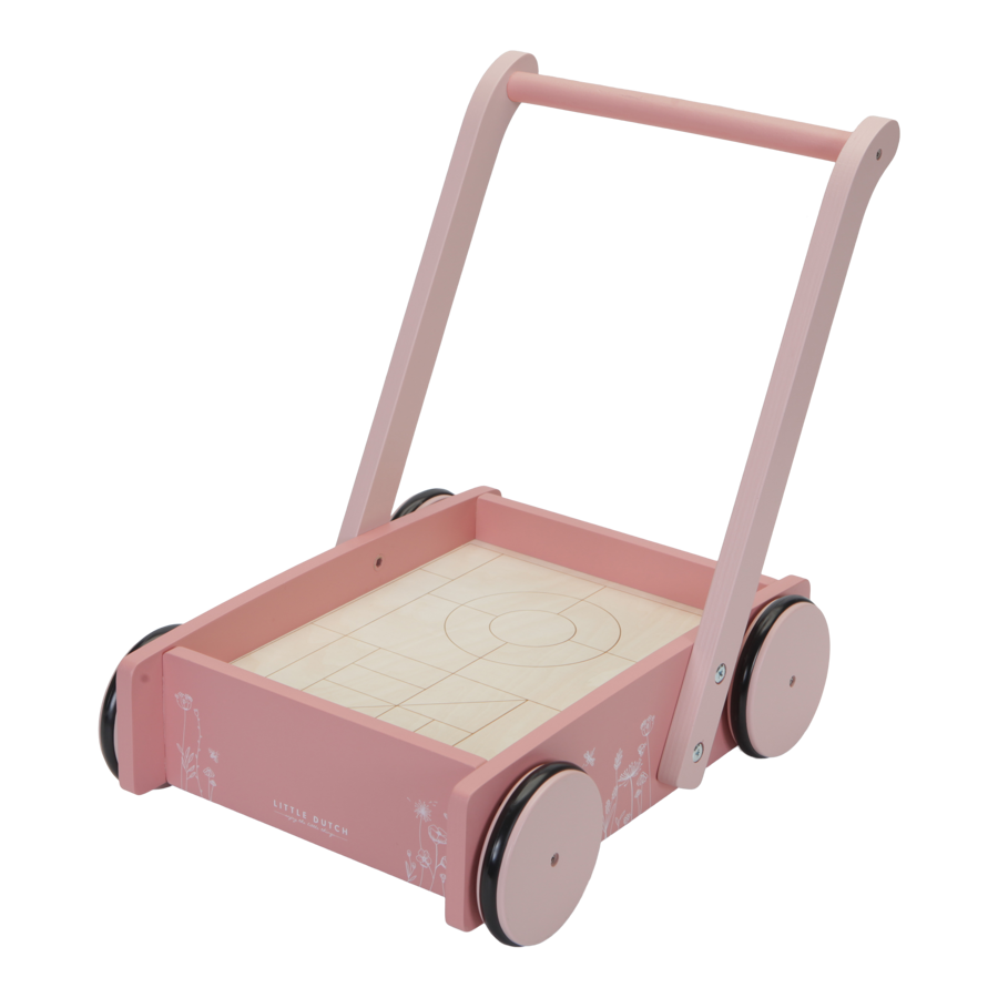 Little Dutch Block Trolley Flowers LD7020