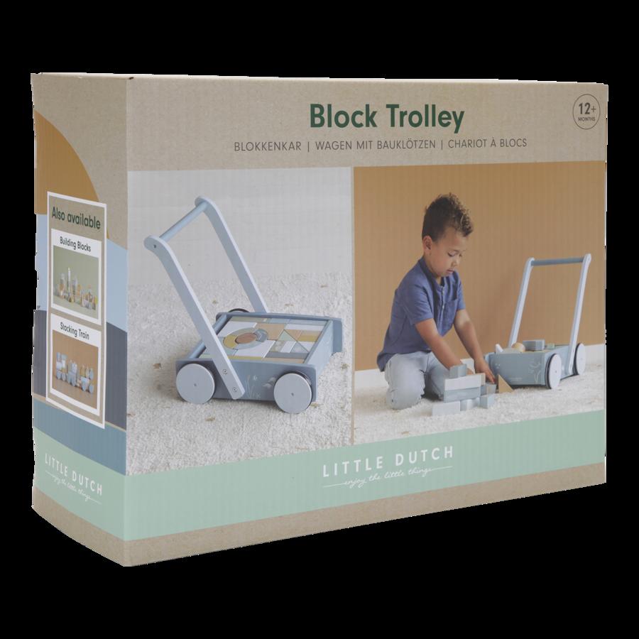 Little Dutch Block Trolley Ocean LD7021