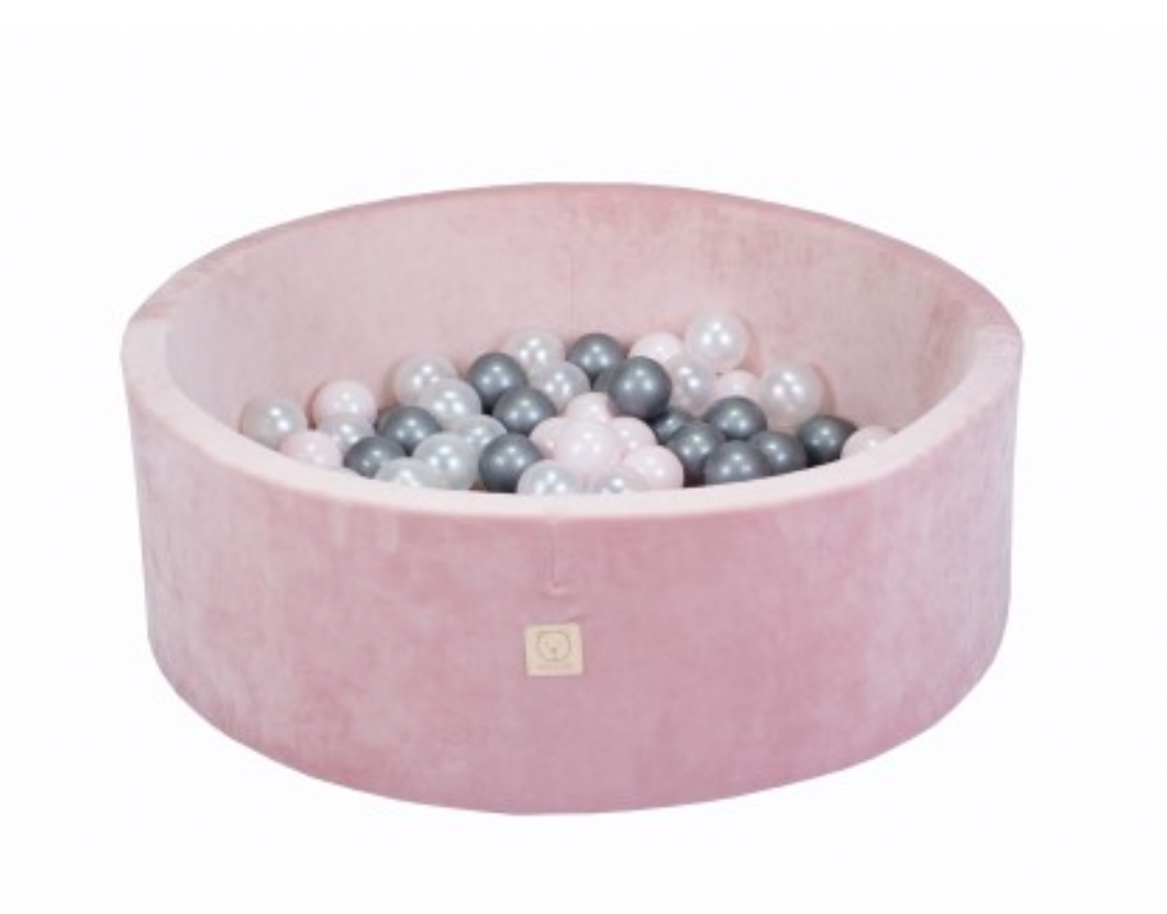 MiSiOO Ball pool Velvet set with 150 balls - Pink, Girlish Pattern (90x30) Available now