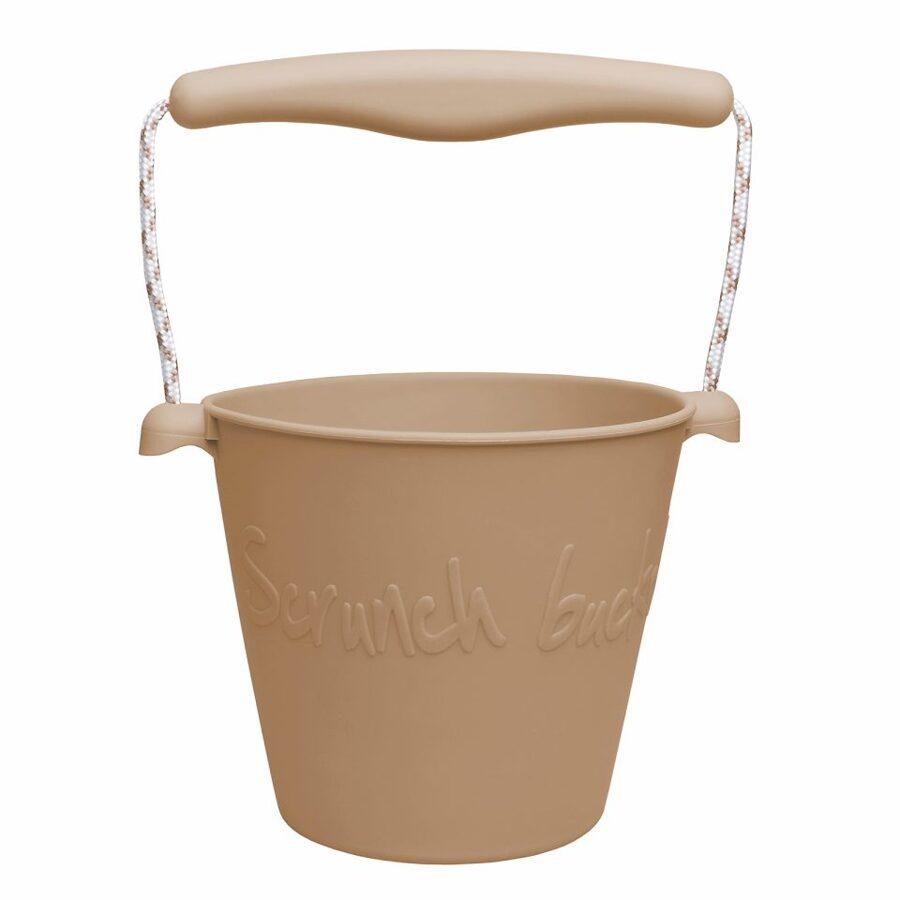 Scrunch bucket - dusty light brown 110008