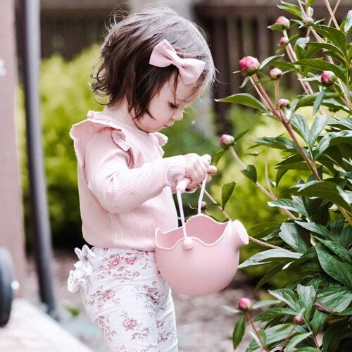 Scrunch watering can - dusty rose 110032