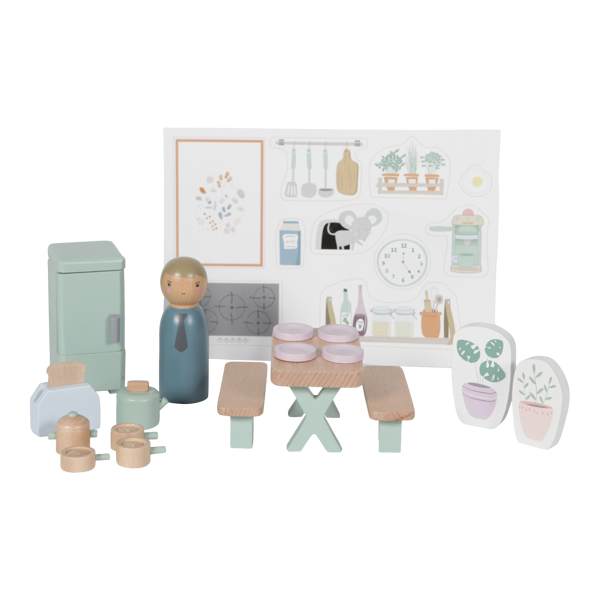 Little Dutch Doll's house playset Kitchen – 19 pcs. LD4476